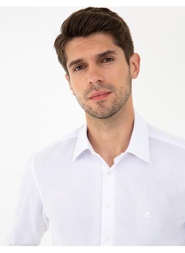 Pierre Cardin G021Gl004.000.1294438.Vr013 Gömlek Uzunk Beyaz